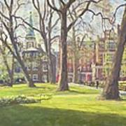Mount Street Gardens, London Oil On Canvas Poster