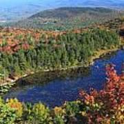Mount Sunapee Lake Solitude Fall Foliage Poster