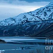 Mount Timpanogos Winter Evening Poster