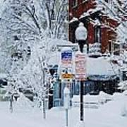Mount Vernon Snow Land Poster
