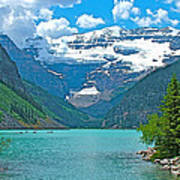 Mount Victoria Rises Above Lake Louise In Banff Np-alberta Poster