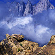 Mount Whitney Alabama Hills California Poster