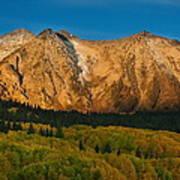 Mountain Autumn Sunrise Poster