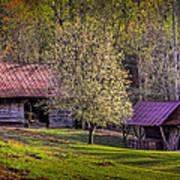 Mountain Barns In North Carolina Poster