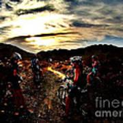 Mountain Biking Ladies Poster by Scott Allison