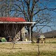 Mountain Cabin In Tennessee 2 Poster by Douglas Barnett