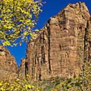 Mountain Cliffs At Zion Poster