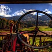 Mountain Farm View Poster