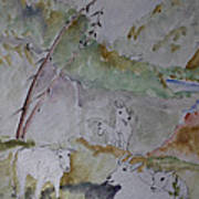 Mountain Goats In Spearfish Canyon Poster