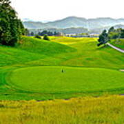 Mountain Golf Poster by Frozen in Time Fine Art Photography
