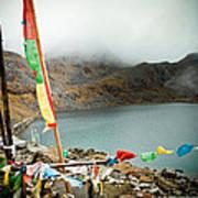 Mountain Lake Gosaikunda Himalayas Poster
