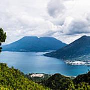 Mountain Lakes In Guatemala Poster
