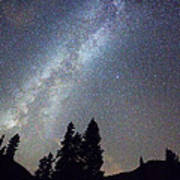 Mountain Milky Way Stary Night View Poster