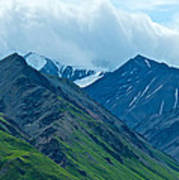 Mountain Peaks From Eielson Visitor's Center In Denali Np-ak Poster