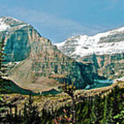Mountain Peaks From Plain Of Six Glaciers Trail In Banff Np-albe Poster