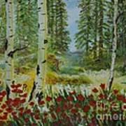 Mountain Poppies Poster