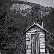 Mountain Privy Bw Poster