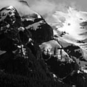 Mountain Range Black And White Two Poster by Diane Rada