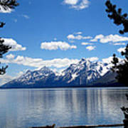 Mountain Reflection On Jenny Lake Poster by Dan Sproul