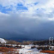 Mountain Snow Coming  Poster