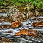 Mountain Stream Rushing After Heavy Rain E134 Poster