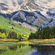 Mountain Top In Spring Poster