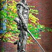 Mountaineer Statue Poster