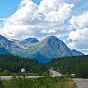 Mountains Along Cassiar Highway In Yt Poster