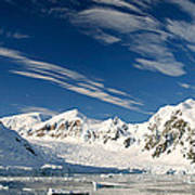 Mountains And Glaciers, Paradise Bay Poster