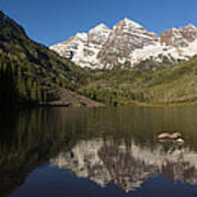Mountains Co Maroon Bells 8 Poster