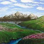 Mountains In Springtime Poster