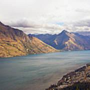 Mountains Meet Lake #5 Poster
