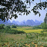 mountains near Yangshou and Guilin  Poster