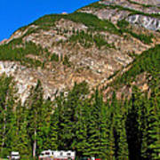 Mountains West Of Kicking Horse Campground In Yoho Np-bc Poster