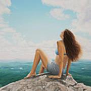 Mountaintop Meditation Poster