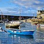 Mousehole Harbour Morning Poster