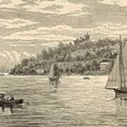 Mouth Of The Shrewsbury River 1872 Engraving Poster by Antique Engravings