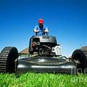 Mowing The Lawn Poster