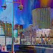 Mpm And Lamp Post Vivid Abstract Poster