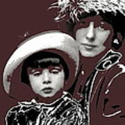 Mrs. Evelyn Nesbit Thaw And Son Arnold Genthe Photo New York 1913-2014 Poster
