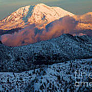 Mt Adams Sunset Poster