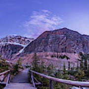Mt. Edith Cavell Trail At Twilight Poster