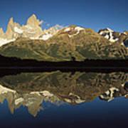Mt Fitzroy At Dawn Patagonia Poster