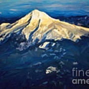 Mt. Hood From Above Poster