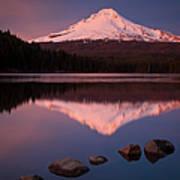 Mt Hood Reflection Poster