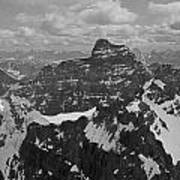T-703512-bw-mt. Hungabee From Summit Of Mt. Lefroy-bw Poster