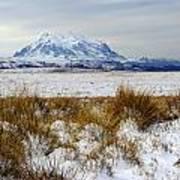 Mt Illimani In Winter Poster
