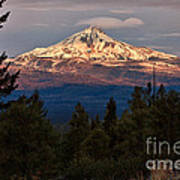 Mt. Jefferson At Dawn Poster