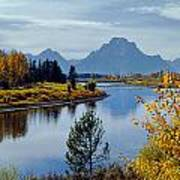 1m9208-mt. Moran And The Snake River, Wy Poster