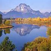 1m9234-mt. Moran Reflection, Wy Poster